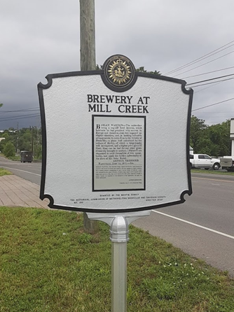 Brewery at Mill Creek Historical Marker Located at Elm Hill Pike and Massman Drive