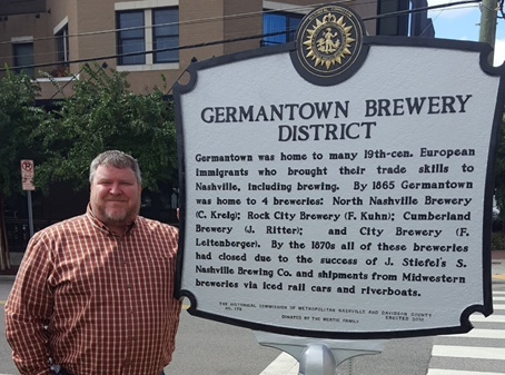 Germantown Brewery Distric Historical Marker Located at Fifth Avenue North and Madison
